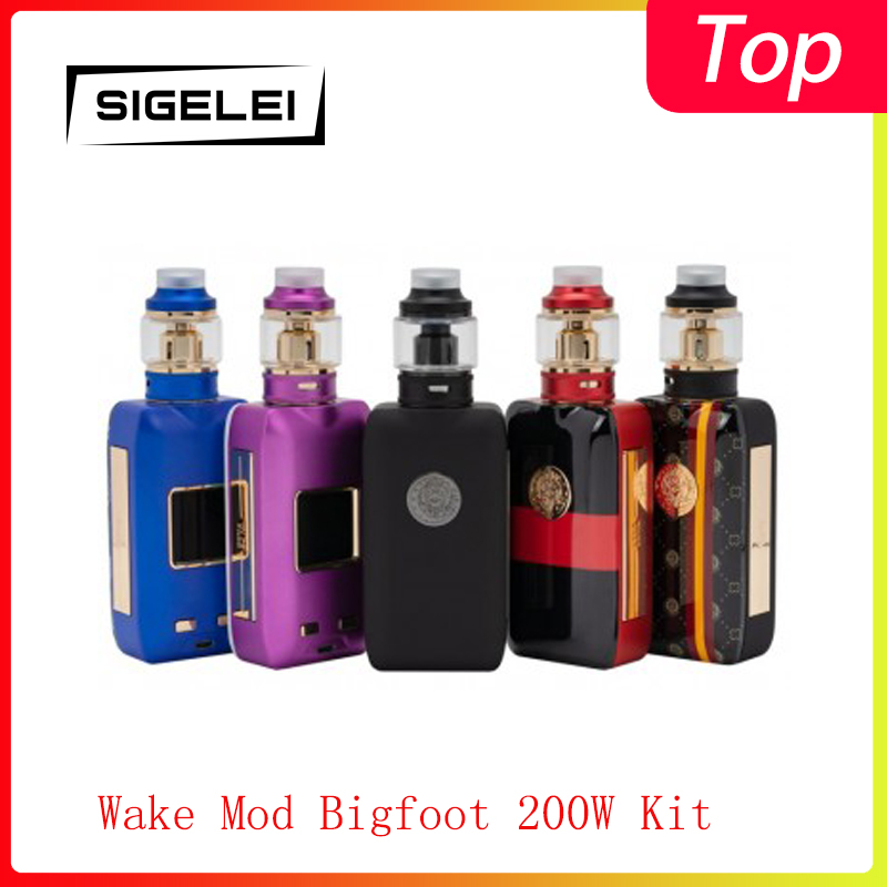 Cleanrence!!Sigelei Wake Mod Bigfoot 200W Kit  Powered By Dual 18650 Batteries Electronic Cigarette Vape Kit