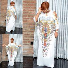 Impressão tradicional dashiki africano vestidos para mulher mais tamanho boubou robe africaine femme longo áfrica maxi vestido roupas africanas