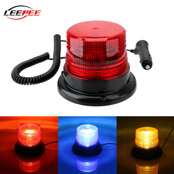 LEEPEE Police Emergency Lights Magnetic Mounted Strobe Lamp Car LED Warning Light Auto Universal Exterior Accessories DC 12V 80V