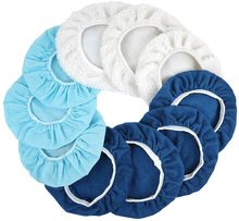 Lucidatrice Pad Bonnet 10Pcs (da 9 a 10 pollici) Waxers Bonnet Set Kit tampone per lucidatura auto Mix Pack di tessuto Non tessuto microfibra di lana