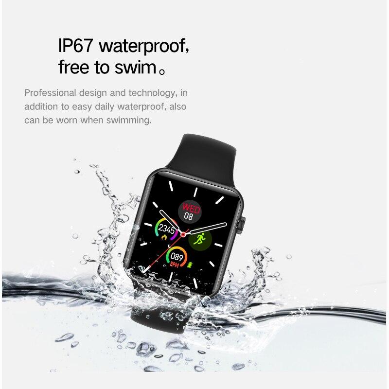 Vwar série 5 montre intelligente 42mm étui pour Apple IOS Xiaomi téléphone moniteur de fréquence cardiaque 50 + visages Smartwatch VS iwo 13 Max T500 IWO12 - 5