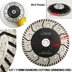 """Image 3 - SHDIATOOL 1pc 115mm or 125mm Diamond Cutting Grindng Disc Dia 4.5"""" or 5"""" Dual Saw Blade Cut Grind Sharpen Granite Marble blades"""