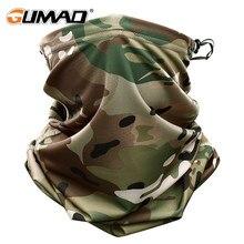 Multicam camo tático máscara pescoço gaiter capa rosto bandana sol fresco militar ciclismo caça caminhadas tubo de acampamento cachecol das mulheres dos homens