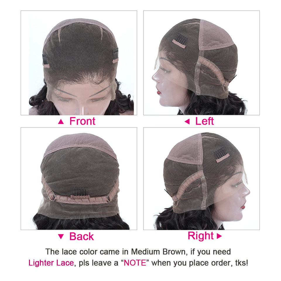 Yyong Hair Pre Plucked Full Lace  Wigs With Baby Hair Loose Deep Wave  Lace Wig Glueless Full Lace Wig  4