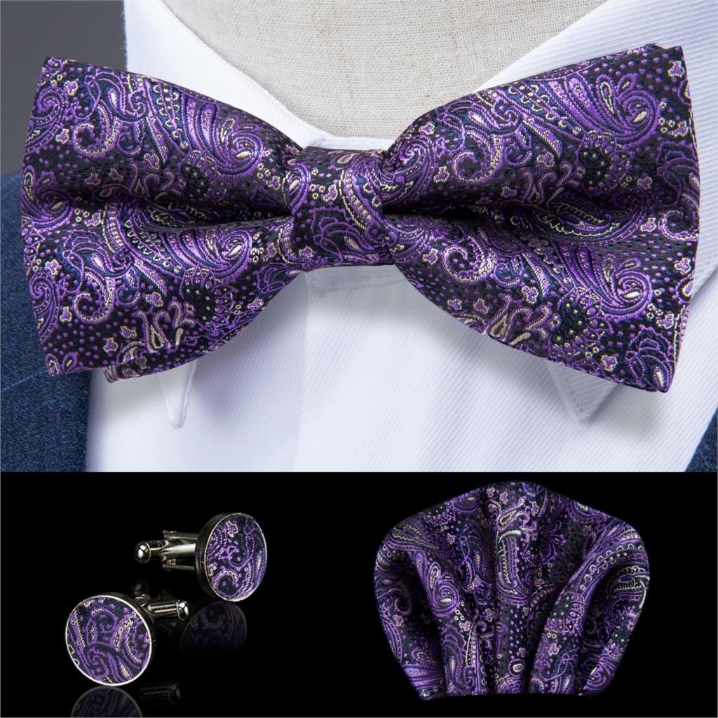 NEW Handmade Custom Bow tie Floral Striped Pink Pre Tied Adjustable Wedding Tie