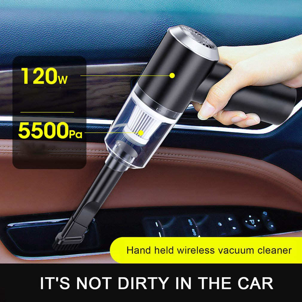USB Rechargeable Cordless 6000Pa 120W Portable Handheld Powerful Wireless Car Vacuum Cleaner For SUV Truck Home Office Pet Hair