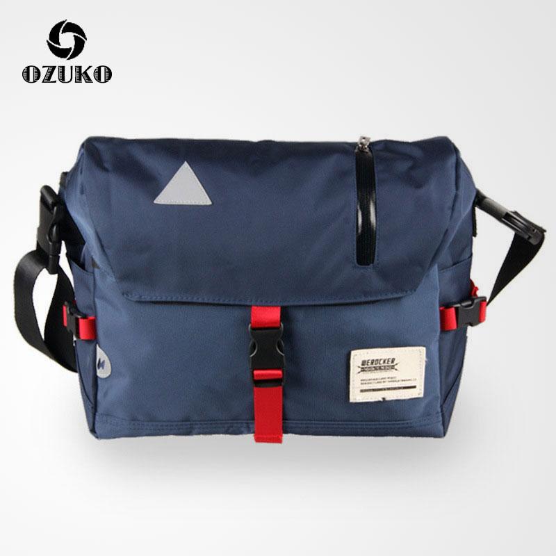 New OZUKO Men Messenger Bags Fashion Sling Shoulder Crossbody Bag Oxford Water Repellent Male Mountain Bike Travel Bag Mochila