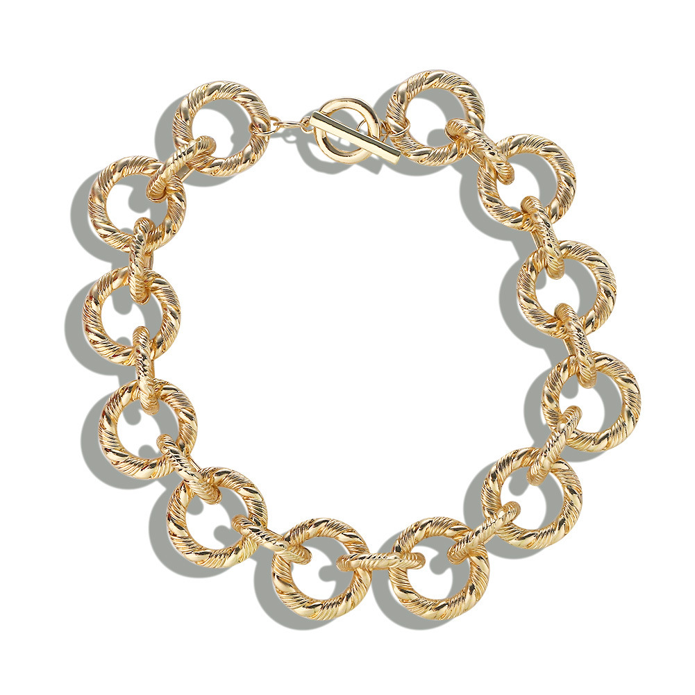 Gold Necklace Hip hop Alloy Chain Necklace Female Choker Fashion Women Jewelry