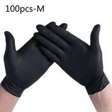 100 Pcs Einweg Hause Reinigung Waschen Nitril Handschuh Arbeit Sicherheit PVC Handschuhe X6HB