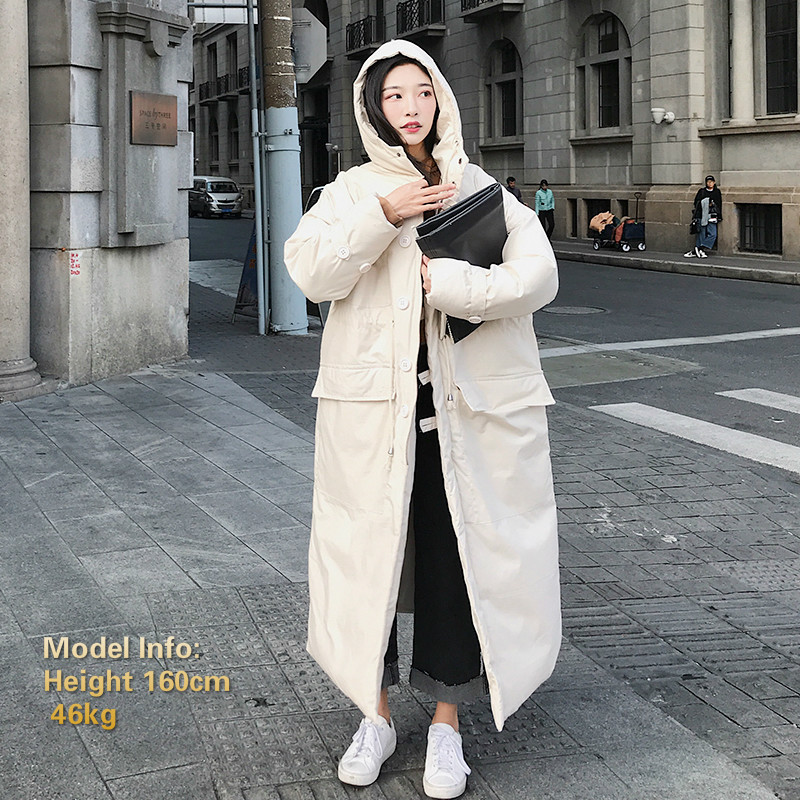 Image 2 - Winter Jacket Women Oversized Parka Coat Hooded Maxi Long Plus 