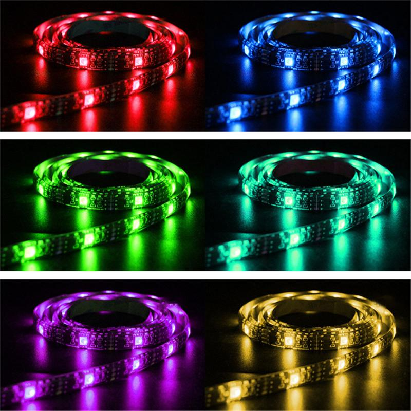 1-5m <font><b>LED</b></font> Strip Light RGB Waterproof SMD <font><b>5050</b></font> <font><b>5V</b></font> Rgb Diode Flexible Ribbon Contoller Luces <font><b>Led</b></font> Cocina <font><b>Led</b></font> Lights Solar Lamp 30led image