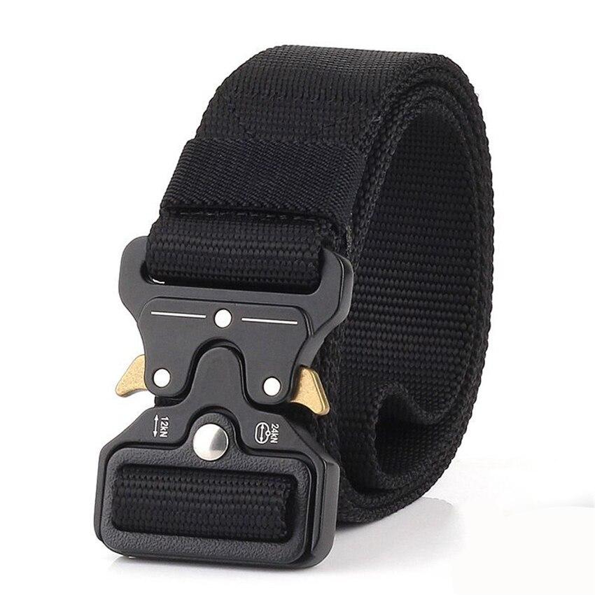 Nylon Tactical Men Belt For Jeans Pants Multi-Function Outdoor Training Belts Canvas Designer Male Belt Casual Long Waist Belt
