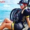 Kafitt camisa de ciclismo das mulheres macacão pouco macaco ciclismo ciclismo ciclismo manga curta camisa terno esportes uniforme 19