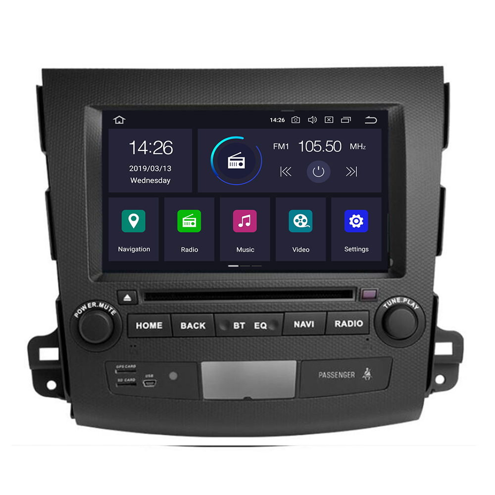 Android 10 8core 4+64G Car DVD for <font><b>Mitsubishi</b></font> <font><b>Outlander</b></font> <font><b>2008</b></font>-2014 Peugeot 4007 Citroen C-Crosser <font><b>touch</b></font> <font><b>screen</b></font> car multimedia image