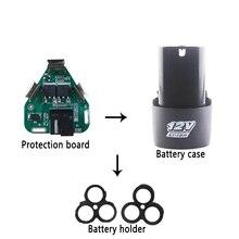 BMS 3S 12V 10A elektrik araçlar 18650 Li-ion pil koruma levhası BMS devre tutucu 3 hücre paketleri el lityum matkap PCB