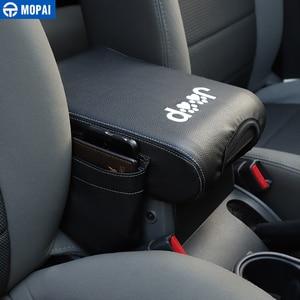 Image 4 - MOPAI Verstauen Aufräumen für Wrangler 07 10 Auto Armlehne Box Pad Abdeckung Zubehör für Jeep Wrangler JK 2007 2008 2009 2010
