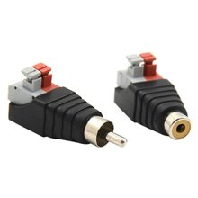 Speaker Wire Cable to Audio Male RCA Connector Adapter Jack Plug For Multimedia Male RCA Connector Adapter allishop sma male switch mmcx male plug convertor rg178 cable fast ship 50cm adapter mini jackplug wire connector