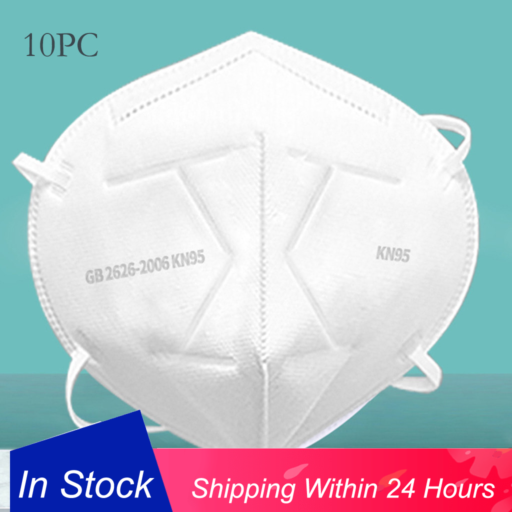 10Pcs Respirator Mask Unisex Print Washable Ear Protection Cotton Anti Dust Mask Droplet Mask Anti-Bacterial Mascarilla