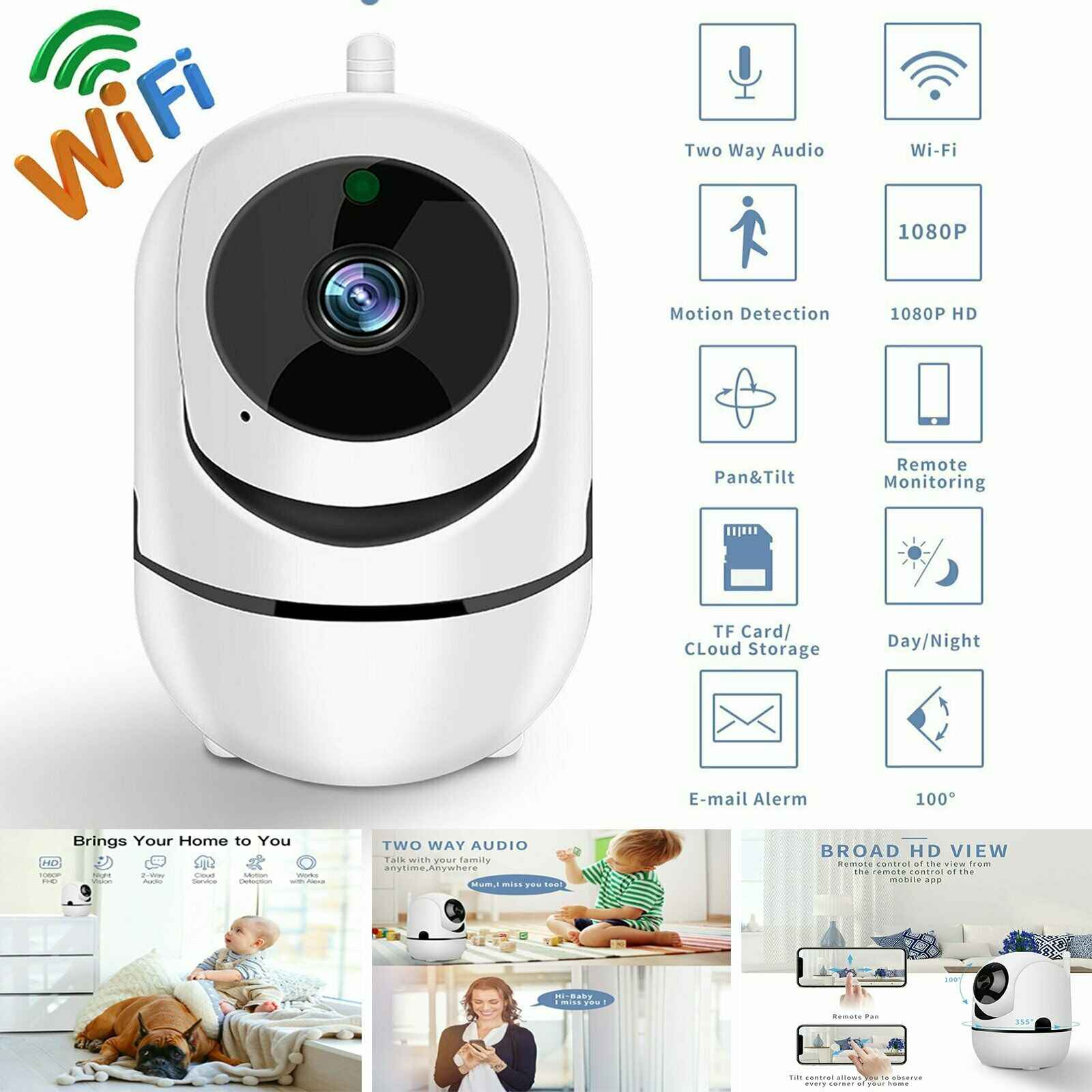 1080P HD Wireless WiFi Pan/TILT IP Security กล้อง Night Vision Baby/PET Monitor