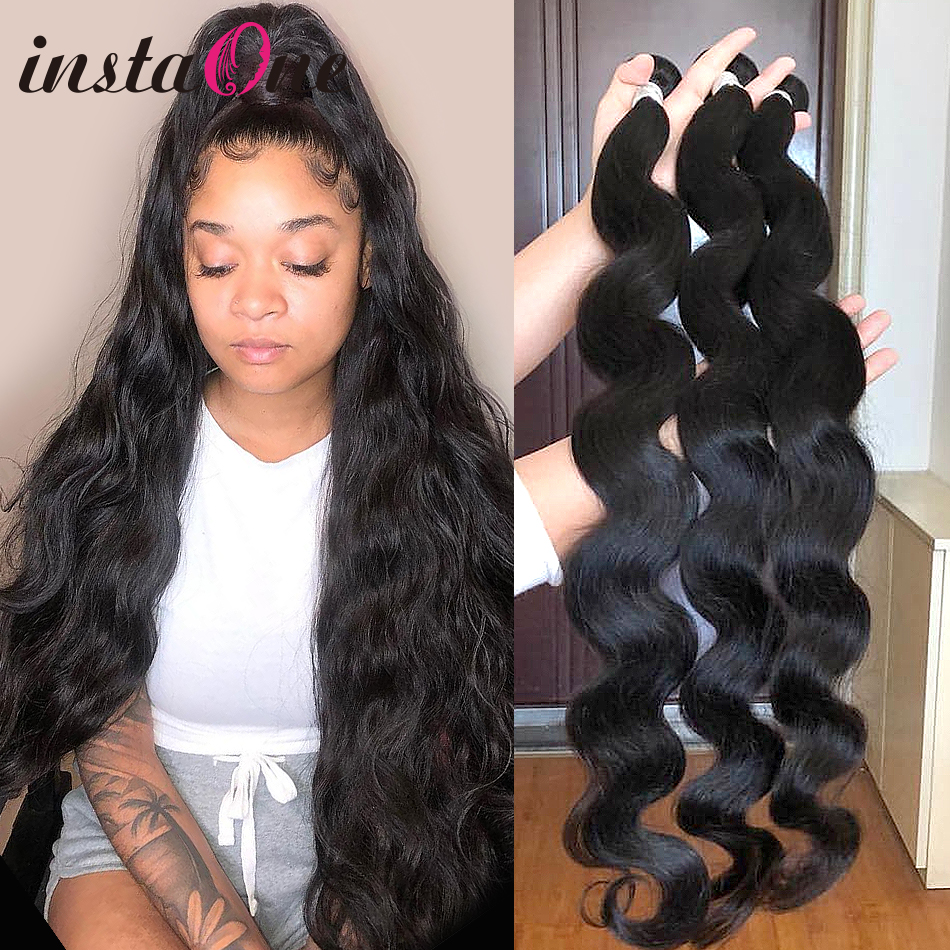 1 3 4 Bundles Brazilian Hair Weaves 8-28 30 32 40 Inch Body Wave 100% Unprocessed Human Hair Double Drawn Long Raw Hair Vendors