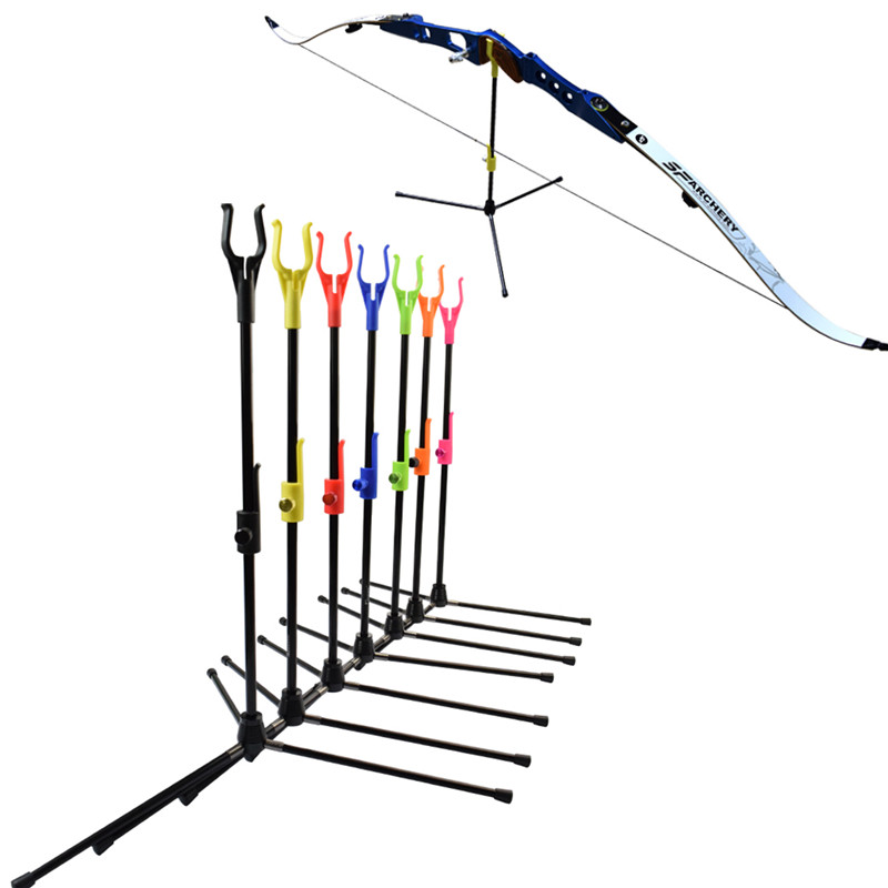 1Pack Archery Bow Stand Recurve Bow Holder Removable Stander Assemble Hanger for Archery Hunting Shooting Outdoor Sports 7Colors