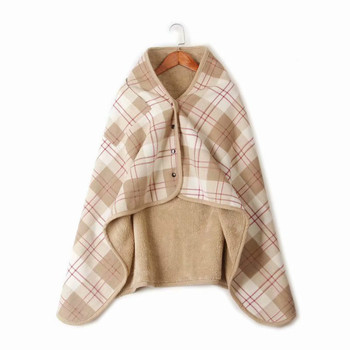 Plaid Comfy Blanket Sweatshirt Sofa TV Hooded Blanket Throw Weighted Blanket Winter Flannel Fleece Fluffy Custom Blanket Xmas