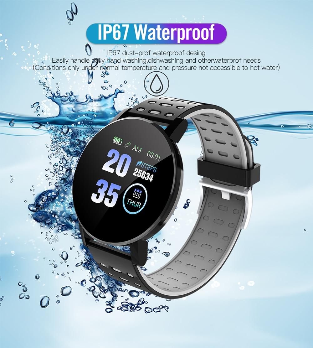 H7e8f6899b7aa463bafc68b0c36ebb546T Fitness Bracelet Blood Pressure Measurement Smart Band Waterproof
