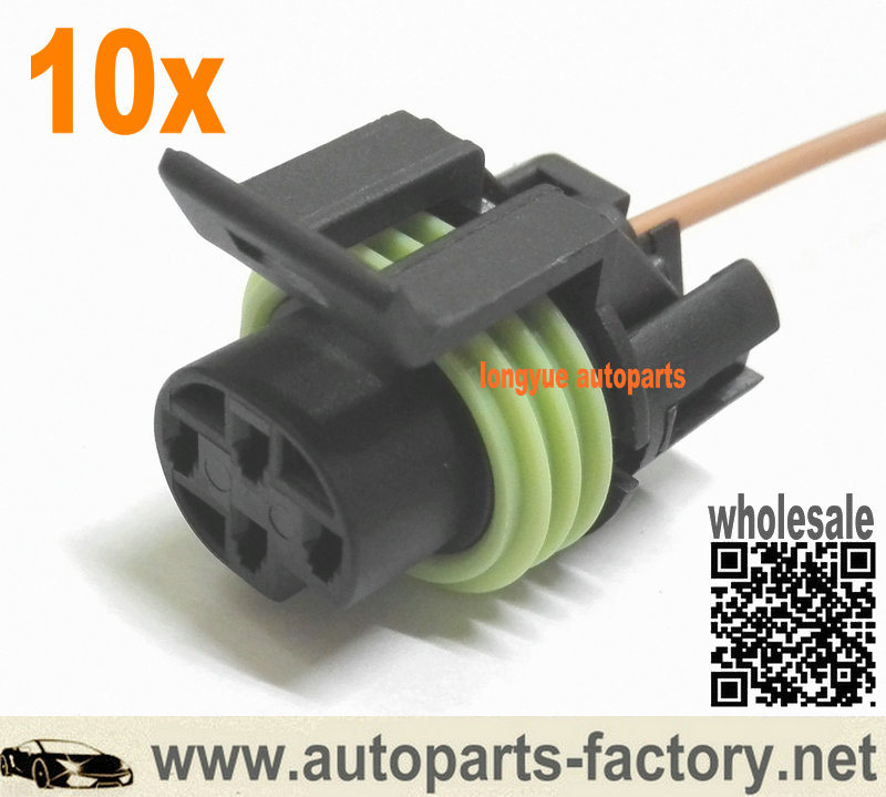 Longyue 10pcs GM Camaro Oil Pressure Indicator Switch Wiring Pigtail Connector LT1 LS1 1-Wire (Single Pin)
