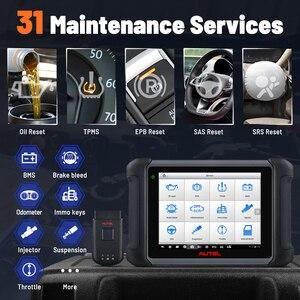 Image 2 - Autel أداة تشخيص السيارة MaxiSys MS906BT ، تشخيص السيارة مع تشفير وحدة التحكم الإلكترونية ، الاختبار النشط ، مفاتيح IMMO ، مستوى OE ، إعادة ضبط الزيت ، EPB ، SAS