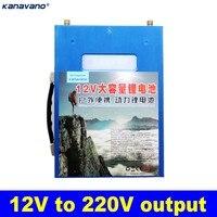 12V inverter 220V power bank lithium battery rechargeable battery power station for cars refrigerators drones laptops