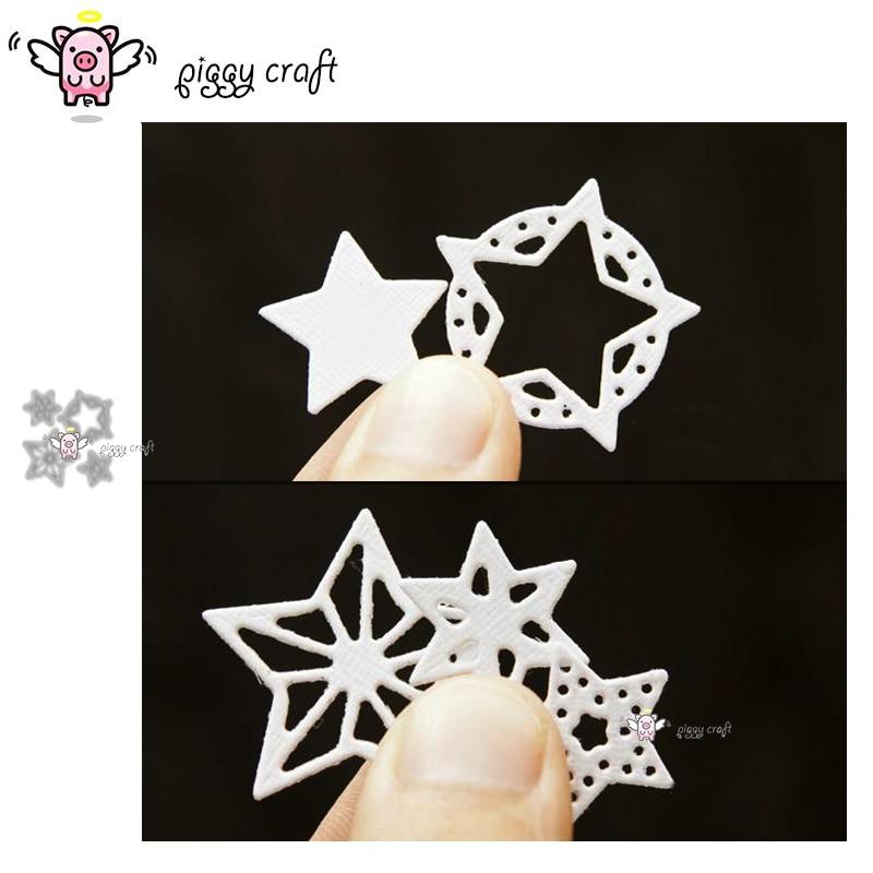 Piggy Handwerk metall schneiden stirbt cut sterben form 4Pcs Stern Pentagramm Sammelalbum papier handwerk messer form klinge punch schablonen stirbt