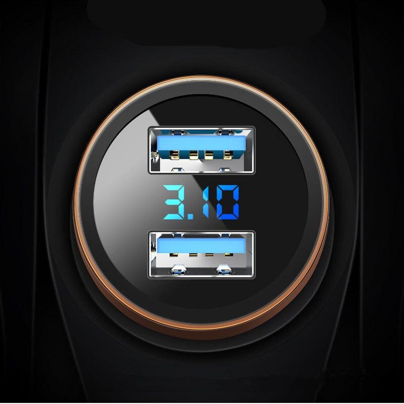 3.1A Dual USB Автомобильное зарядное устройство светодиодный дисплей для Renault Koleos Fluenec Latitude Sandero Kadjar Captur Talisman Megane LAGUNA Scenic|Клипсы и зажимы для авто|   | АлиЭкспресс