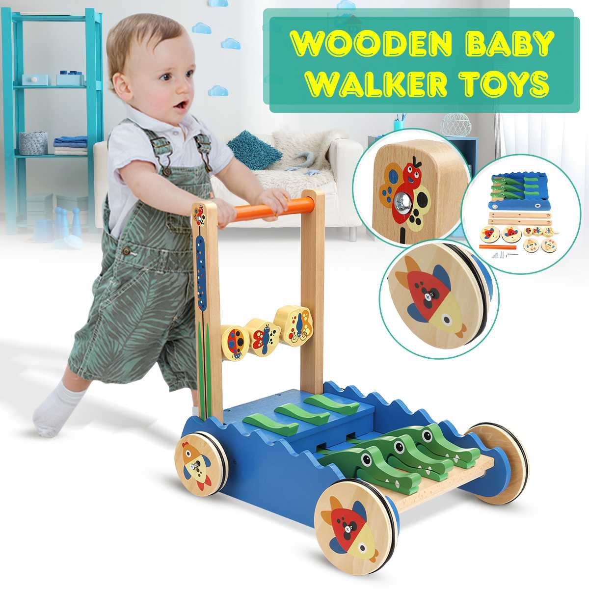 NEW Baby Walker Multifuctional Toddler Walker Sit-to-Stand Learning Walker Toys Activity Walker Birthday gift Toys for Baby Kids