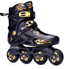 JK X-MAN Slalom Inline Skates Adult Child Roller Skating Shoes Sliding Free Skating Patines FSK Brake Street Road Rollerblade(China)