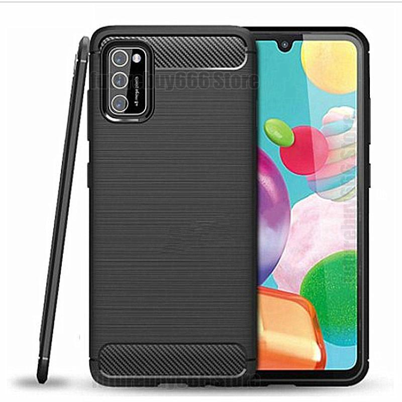 Carbon Fiber Silicone Phone Case For Samsung Galaxy A51 A71 A41 A21 A11 M31 M11 Case For Samsung A20E A50 A70 Protective Covers