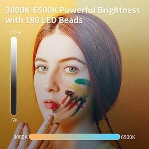 Image 3 - Manbily MFL 06 led luz de vídeo recarregável 4500mah pode ser escurecido 3000k 6500k luz de preenchimento para câmera slr fotografia smartphone iphone
