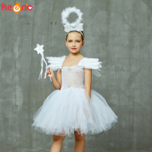 Meisjes Wit Hemelse Engel Tutu Jurk met Halo & Sequin Engelenvleugels Back Kinderen Halloween Fancy Dress Up Kerst Kostuum(China)