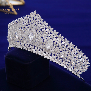Crown Royal Accessories | European Royal Oversize Silver Tiaras Crowns Gifts For Brides Full Zircon Wedding Hairbands Crystal Wedding Hair Accessories