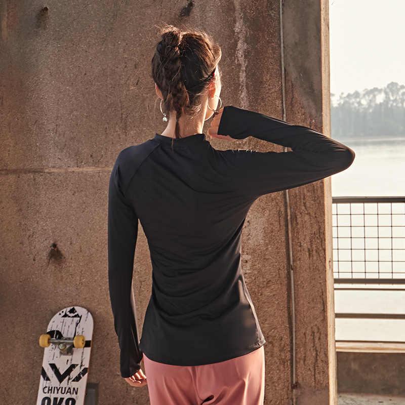 アクティブウェアランニングトレーニング服ヨガタンクストレッチセクシーなブラウスジムタンク長袖シャツスポーツクロップトップ sprotswear