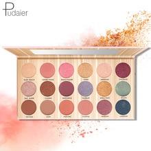 Pudaier18 color eye shadow plate waterproof not dizzy dye matte natural nude makeup beginner girl color