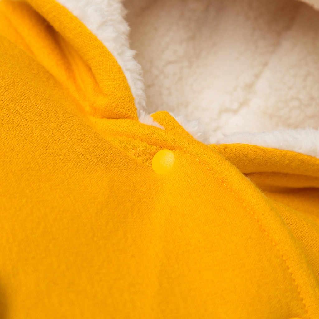 Bebê recém-nascido Da Menina do Menino Roupas de Inverno Jaqueta Criança Zip Engrossar Casaco Moletom Com Capuz Snowsuit Jumpsuit Outfit Moda Infantil Roupa Infantil