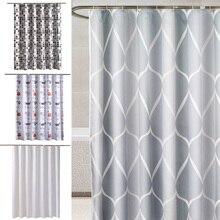 Cortina de baño impermeable, Set de cortina de ducha con estampado geométrico, 12 ganchos, cortinas de baño impermeables