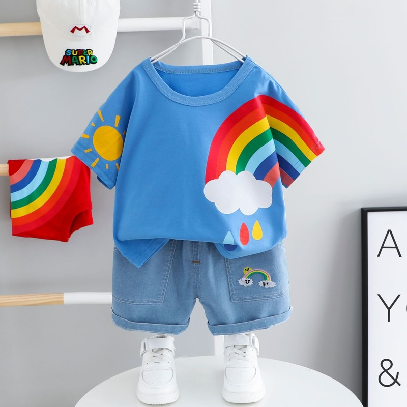 Baby Clothes For Girls Boys Clothing Summer Short-sleeved Suit 2 Children 1-4 Years Old Kids' Cotton Boy Summer Two-piece Suits