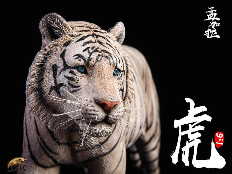 Acessórios Modelo Animal Collectible 1/6 Figura Cena Amarelo/Branco Bengal Tiger Animal Estátua Modelo para 12 ''Figura de Ação