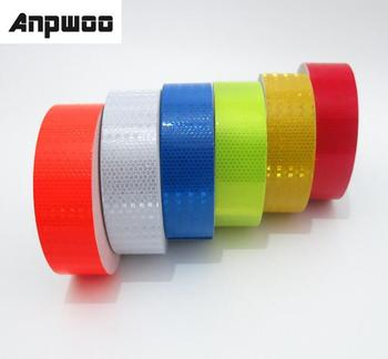 ANPWOO 5cmx3m Reflective Material Tape Sticker Safety Warning Tape Reflective Film Car Stickers