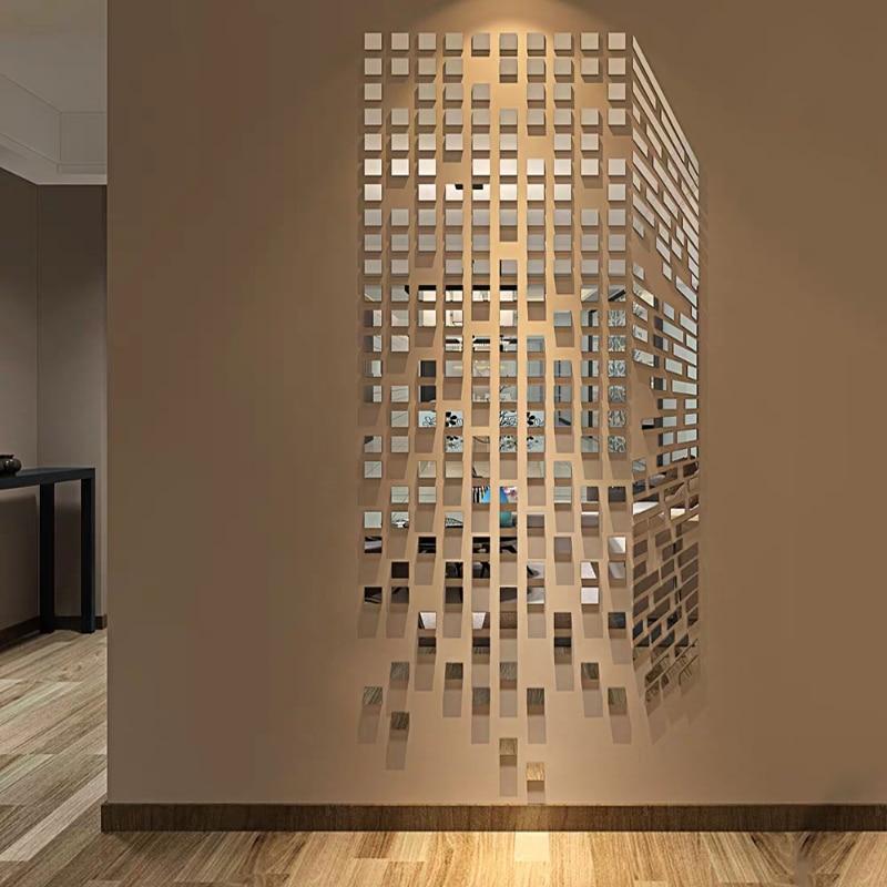Акриловые зеркальные настенные наклейки Rubik Cube, наклейки на стену для спальни, ТВ, 3d наклейки на стену, мозаика, Фоновые наклейки, сделай сам, художественный декор стен|Наклейки на стену|Дом и сад - AliExpress