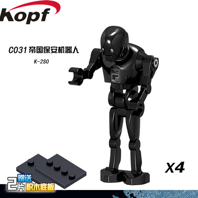 Single Sale Building Blocks Space  Clone Pilot K-2SO Robot Battle Droid RO-GR Dolls Best Collection Toys Children Gift C031