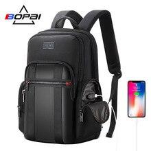 BOPAI Backpack Men USB Anti Theft Business Backpack for 15.6Inch Laptop Backpack Black Back Pack School Backpack Breathable Back