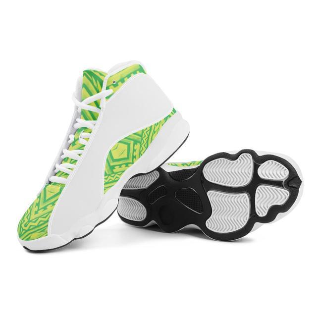 De calidad superior de la Polinesia Samoa estilo Tribal niño zapatillas de deporte Zapatos de bola Logo de equipo deportivo de Baloncesto de los hombres zapatos deportivos 2
