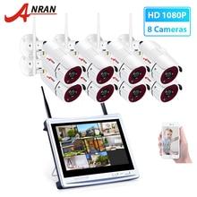 ANRAN 8CH אלחוטי מעקבים מצלמה מערכת 1080P HD IP חיצוני ראיית לילה אבטחת Cctv מצלמה מערכת